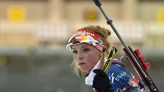 Biatlonistka Markéta Davidová.