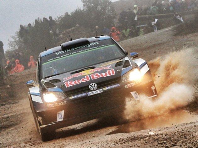 Sébastien Ogier na Katalánské rallye.