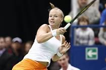 Kiki Bertensová ve Fed Cupu proti Rusku.