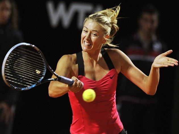 Maria Šarapovová na turnaji v Římě.
