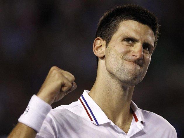 Novak Djokovič se raduje ve finále Australian Open.