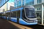 Tramvaj Škoda ForCity Classic, která bude jezdit v německém Chemnitzu.