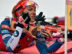 Gabriela Koukalová vyhrála závod SP v Novém Městě na Moravě