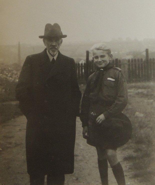 Jindra Hojer s tatínkem