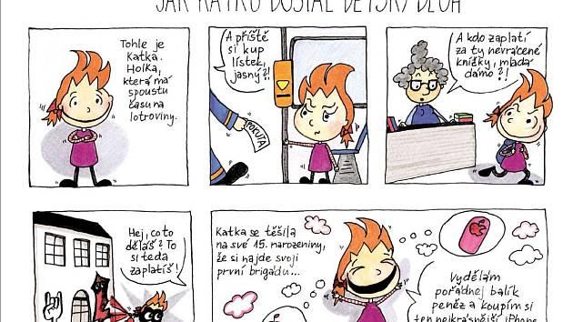Komiks o Katce si klade za cíl vysvětlovat dětem principy a rizika dluhových pastí. Vnímán je však kontroverzně