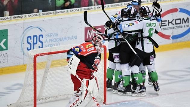 Mladá Boleslav - Hradec Králové: Radost domácích hokejistů z gólu