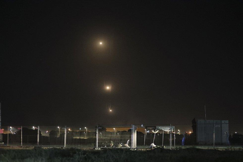 Rakety vypálené na Izrael z Pásma Gazy.