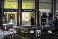 Policie vyšetřuje výbuch v petrohradském supermarketu