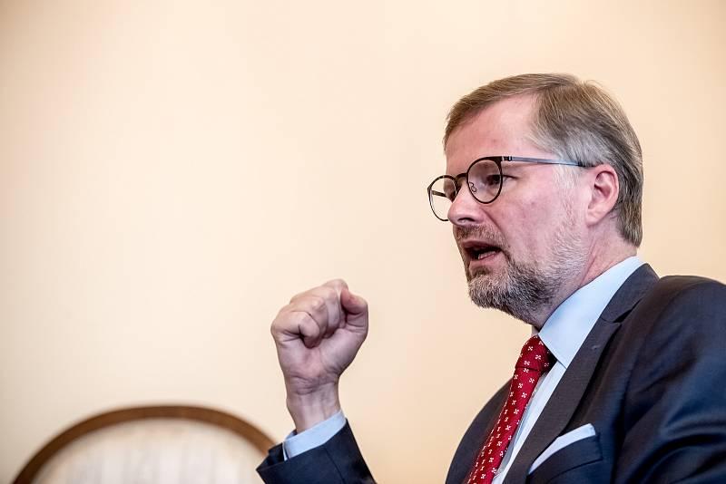 Předseda ODS Petr Fiala.