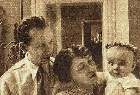 S rodinou. Záviš Kalandra s manželkou Ludmilou.