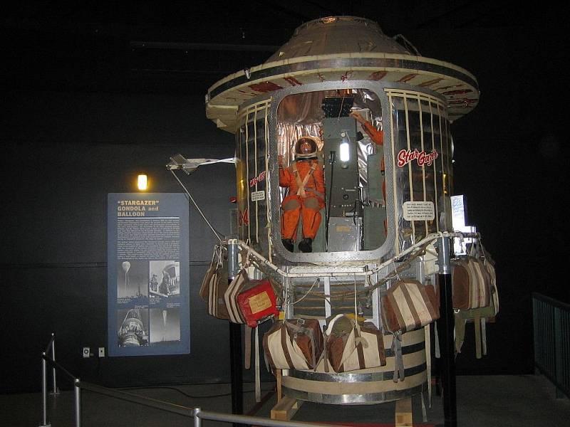 Gondola Stargazer (Hvězdář), uložená v Národním muzeu amerického armádního letectva