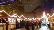 Vánoční trhy v Mnichově, hlavním městě Bavorska