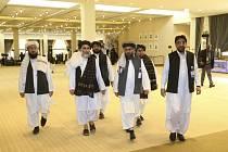 Zástupci hnutí Tálibán v katarském Dauhá 29. února 2020.