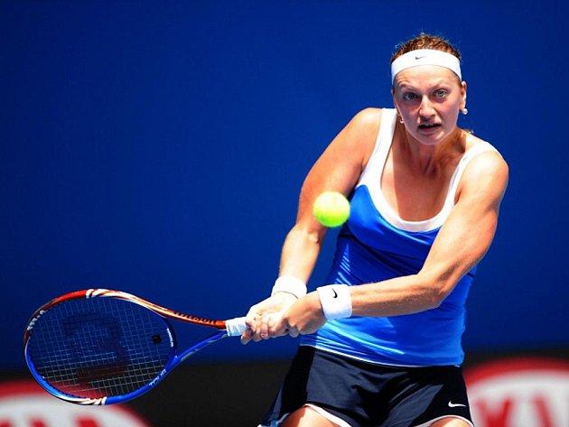 Česká tenistka Petra Kvitová během osmifinále Australian Open.