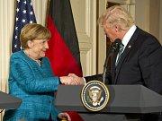 Angela Merkelová a Donald Trump.