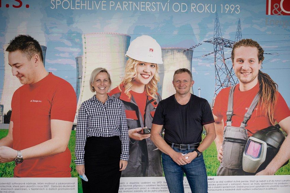 Kristina Kosatíková, IBM a Luděk Říha, IC Energo