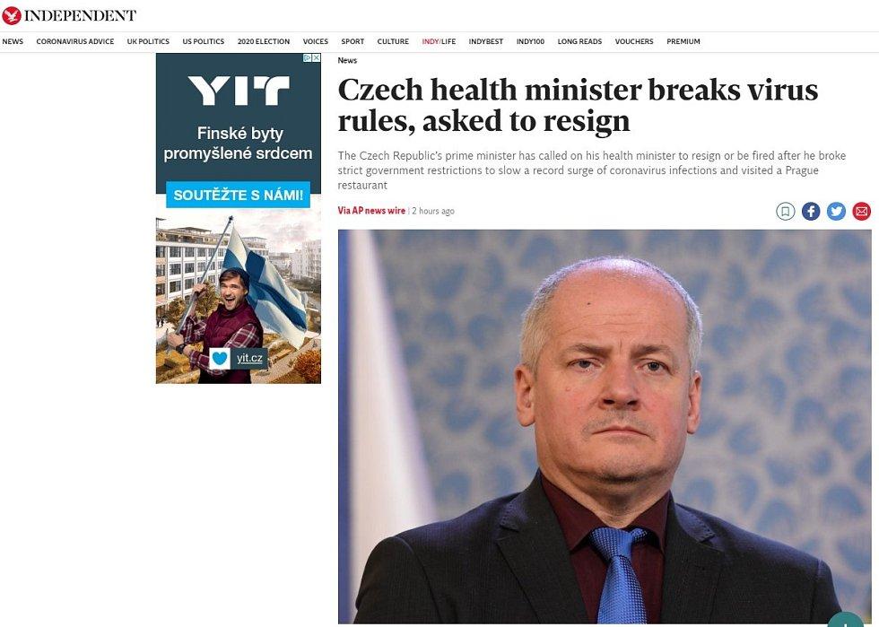 Světová média zaznamenala Prymulovu blamáž. The Independent