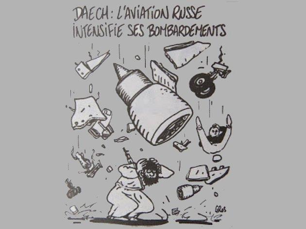 Karikatury Charlie Hebdo pobouřily Rusy.