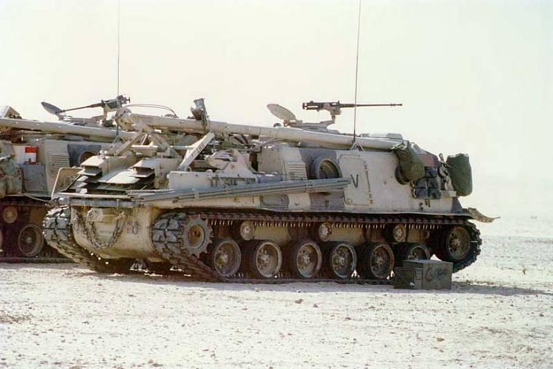 Vyprošťovací obrněné vozidlo M88 v Perském zálivu