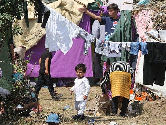 Uprchlíci v Makedonii. Ilustrační foto.