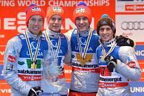 Norský triumf. Gangnes a spol. získali na MS v letech na lyžích zlatou medaili