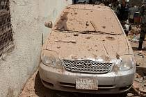 Následky výbuchu v saúdskoarabské Mekce