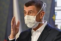 Premiér Andrej Babiš (na snímku z 30. března 2020)