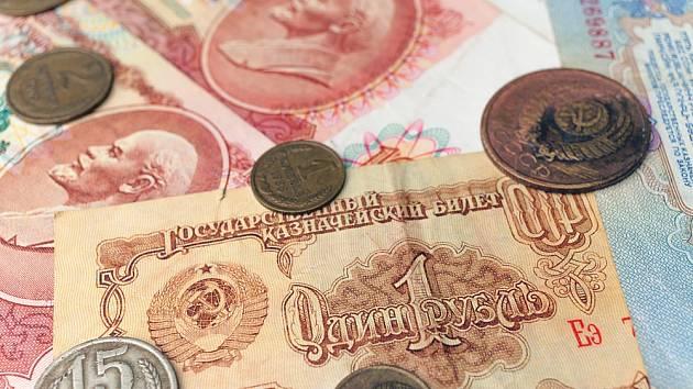 Sovětský rubl. Ilustrační snímek