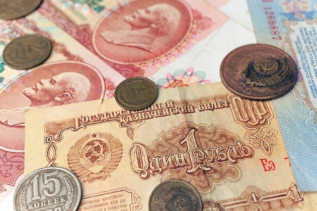 Bývalé sovětské platidlo - rubl.