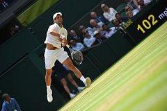 Novak Djokovič na Wimbledonu.