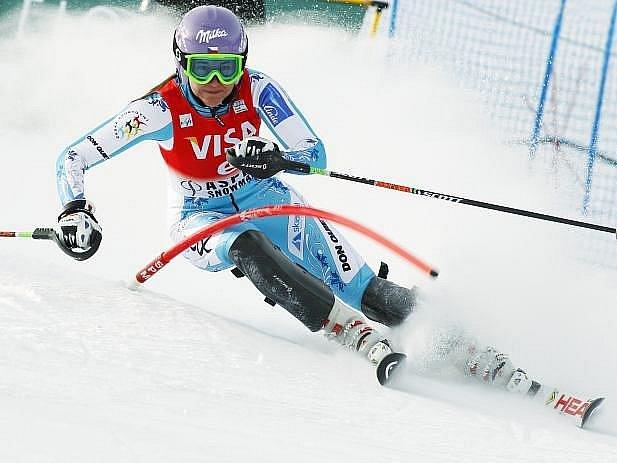 Šárka Záhrobská se tentokrát ve slalomu neprosadila.