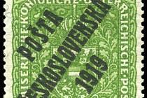 Pošta Československá 1919. Rarita, které se objeví v aukci v Bostonu