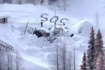 Muž zachráněný na Aljašce
