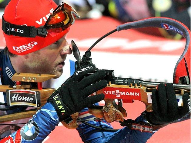 Biatlonista Michal Šlesingr.