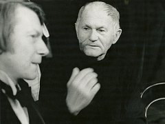 Herec Josef Dvořák a spisovatel Bohumil Hrabal.
