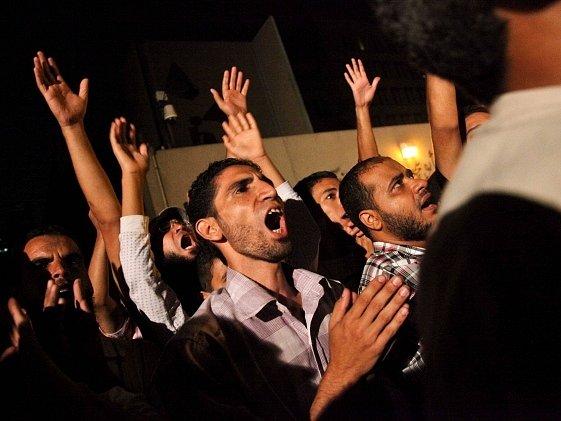 Úterní protest u velvyslanectví USA v Káhiře