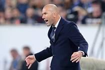 Trenér Realu Madrid Zinédine Zidane.