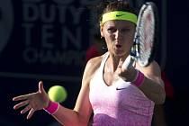 Lucie Šafářová na turnaji v Dubaji.