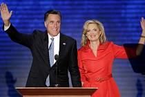 Mitt Romney a jeho manželka Ann.