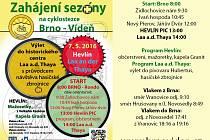 Zahájení sezony na Cyklostezce Brno-Vídeň 7. 5. 2016
