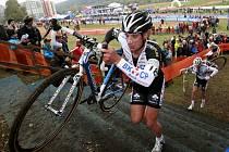 Cyklokrosař Radomír Šimůnek na Světovém poháru v Táboře.