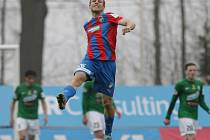 Daniel Kolář z Plzně se raduje z gólu proti Jablonci.