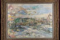Oskar Kokoschka: Praha (Pohled z ateliéru na Petřín, prodáno za 52,08 milionů)