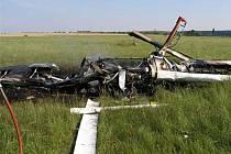 V troskách sportovního letadla zahynul pilot