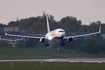 Letadlo společnosti Ryanair v Minsku