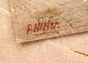 Podpis A. Hitlera na jedné z maleb