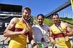Mistrovský závod K2 mužů na 1000 m vyhráli Jakub Špicar s Danielem Havlem
