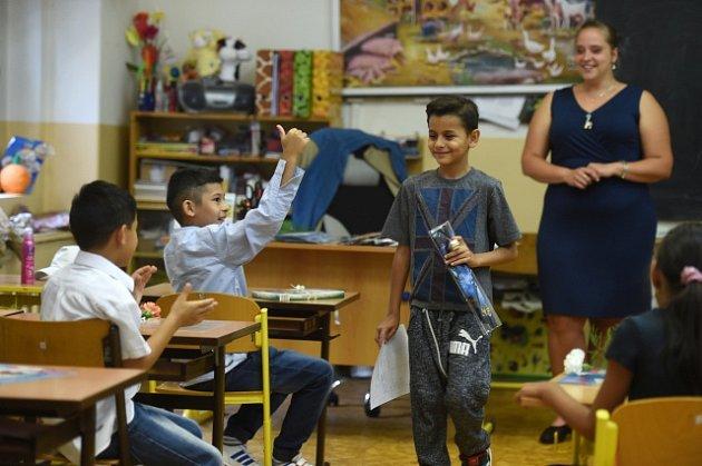 Romští žáci. Ilustrační foto