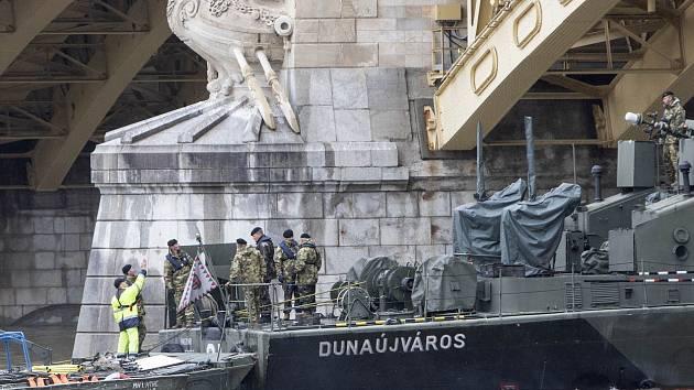 Potopení lodi s turisty v Budapešti
