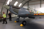 Loch Doon Spitfire P7540 ve skotském muzeu v Dumfries